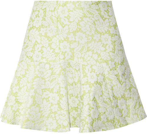 Helene Berman Flared jacquard mini skirt