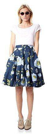 Spring Bloom Flared Skirt