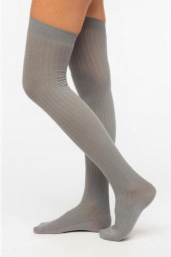 Velvet Heart Textured Rib Thigh-High Sock