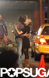 Kristen Bell and Dax Shepard kissed for the cameras while filming When in Rome in NYC in June 2008.