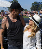 Dax Shepard and Kristen Bell spent an afternoon outside at the Bonnaroo Music and Arts Festival in June 2012.