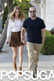 Rosie Huntington-Whiteley and Jason Statham went shopping together.