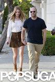 Rosie Huntington-Whiteley and Jason Statham went shopping together.