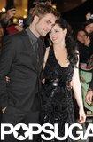 Robert Pattinson and Kristen Stewart showed love at the November 2011 London premiere of Breaking Dawn Part 1.