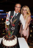 Jason Trawick and Britney Spears posed for photos with her new ring in Las Vegas the day after releasing their engagement news in December 2011.