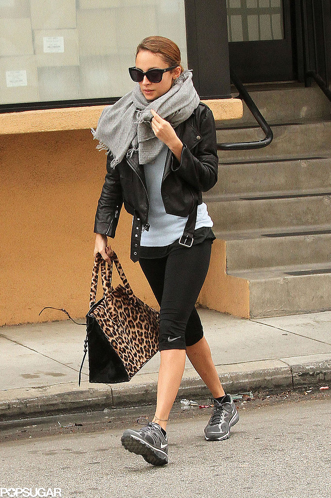 Nicole Richie worked out at Tracy Anderson's studios in LA.