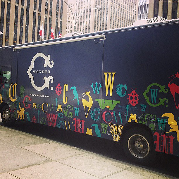 We stumbled upon the C. Wonder bus!