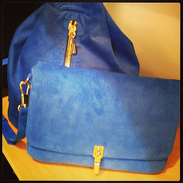 Blue-hued bags from Elizabeth and James.
