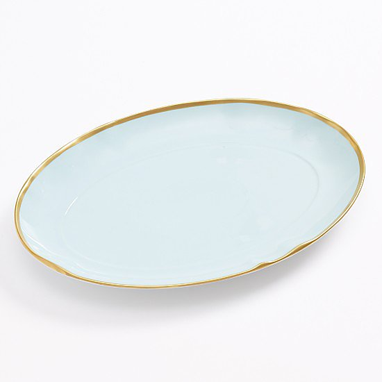 Add a slight pop of color to your table with this powder-blue platter ($135).