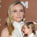 At this year's FX Upfront Bowling Event, Diane Kruger paired her halter button-down with soft waves that were worn with a deep side part. She twisted the style behind one ear for a stylish yet classic finish.