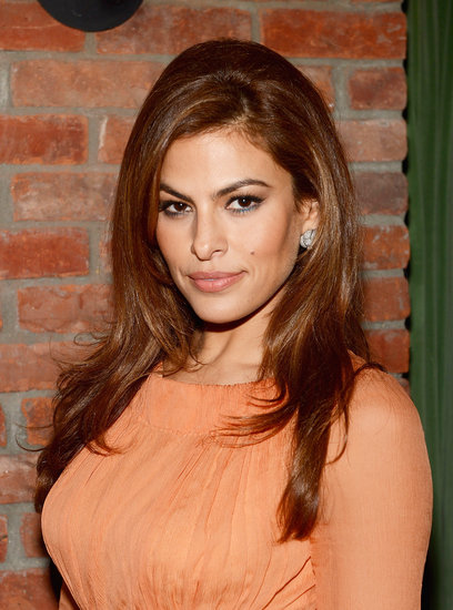 Eva Mendes showed off her enviable hair at the Place Beyond the Pines premiere afterparty with a side part and a small bouffant. She kept her makeup palette warm, except for a pop of shimmering blue eyeliner as a nice contrast.
