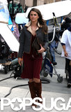 Keri Russell put her serious face on while filming The Americans in NYC on Friday.