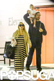 Jessica Simpson ran errands with Eric Johnson and Maxwell in LA on Friday.