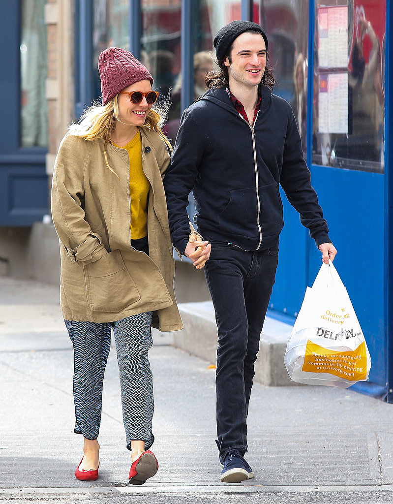 Sienna Miller and Tom Sturridge grabbed a to-go meal.
