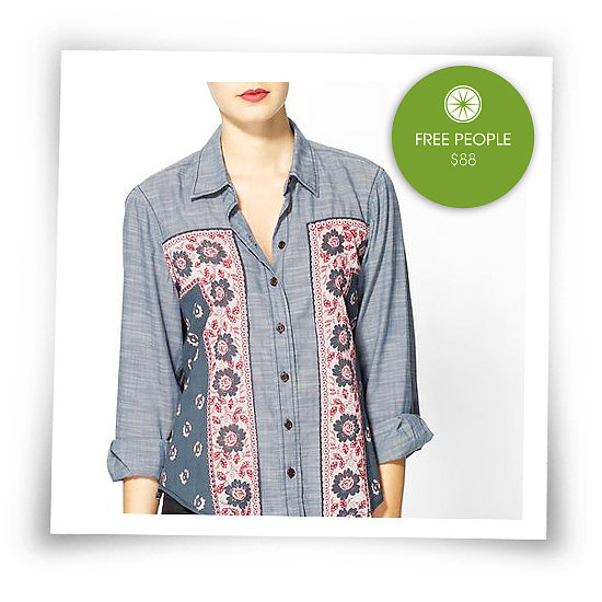 And my obsession for denim continues . . . a denim shirt is a different take on a basic and one that every girl should own. I particularly like this printed Free People one — perfect for a day at class or a casual brunch with the gals.   See more Style Shortcuts