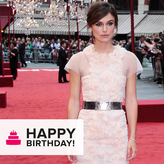 """We wished a """"happy birthday"""" to the ever-chic Keira Knightley."""
