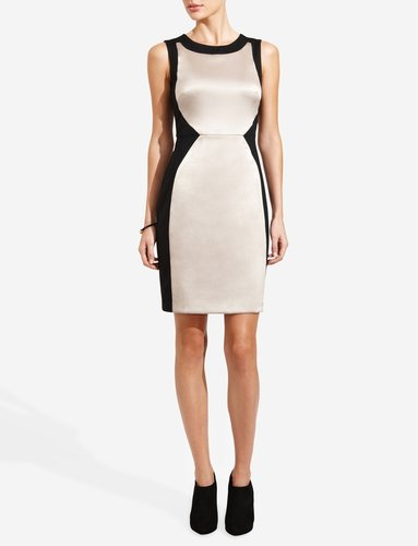 Colorblock Hourglass Sheath Dress