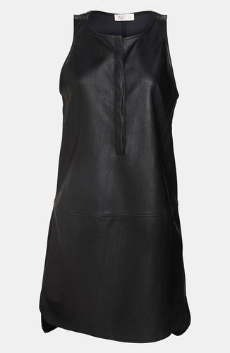 ASTR Faux Leather High/Low Tank Dress