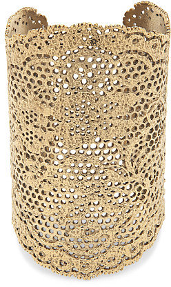 Yellow Gold Laser Cut Lace Cuff