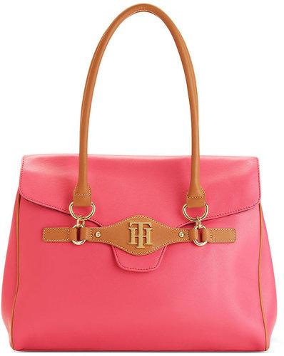 Tommy Hilfiger Handbag, Rift Valley Nappa Top Handle Flap Bag