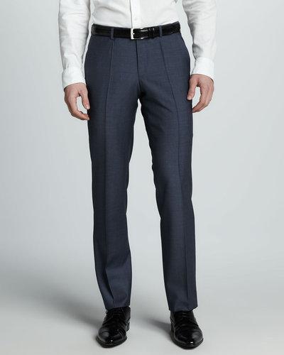 Hugo Boss Sharkskin Dress Pants, Blue