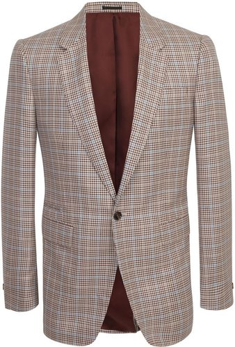 Brown/Ivory Checked Dogtooth Jacket