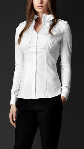 High Collar Fitted Shirt