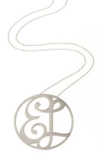 K Kane Medium Signature Pendant (Ships 6 Weeks from Order Date)