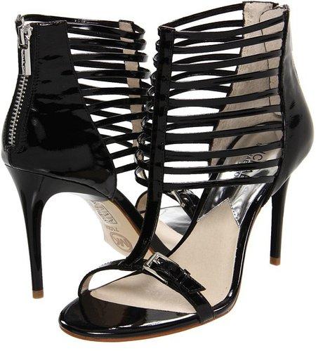 MICHAEL Michael Kors - Molly Sandal (Black Patent) - Footwear