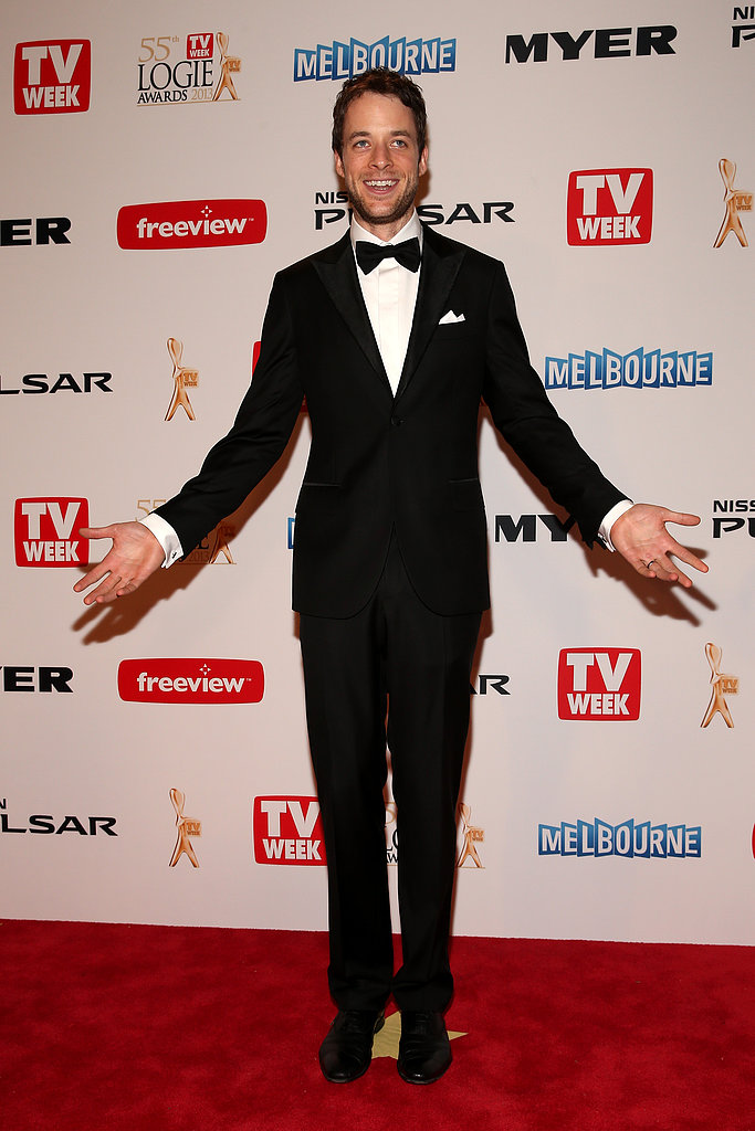 Hamish showed off a leaner figure at the 2013 Logie Awards in April 2013.