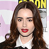 Lily Collins With Red Lipstick at Wonder Con on the Weekend