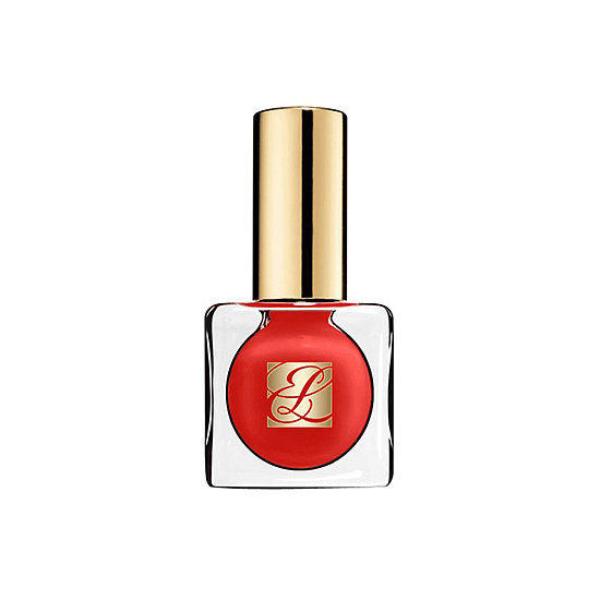 The sexy shade of Estée Lauder Pure Color Long Lasting Nail Lacquer in Hot Spell ($20) is the ideal blend of vibrant red and orange for a sophisticated coral tone.