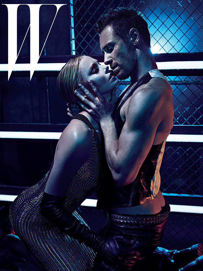Charlize Theron and Michael Fassbender did a magazine shoot.