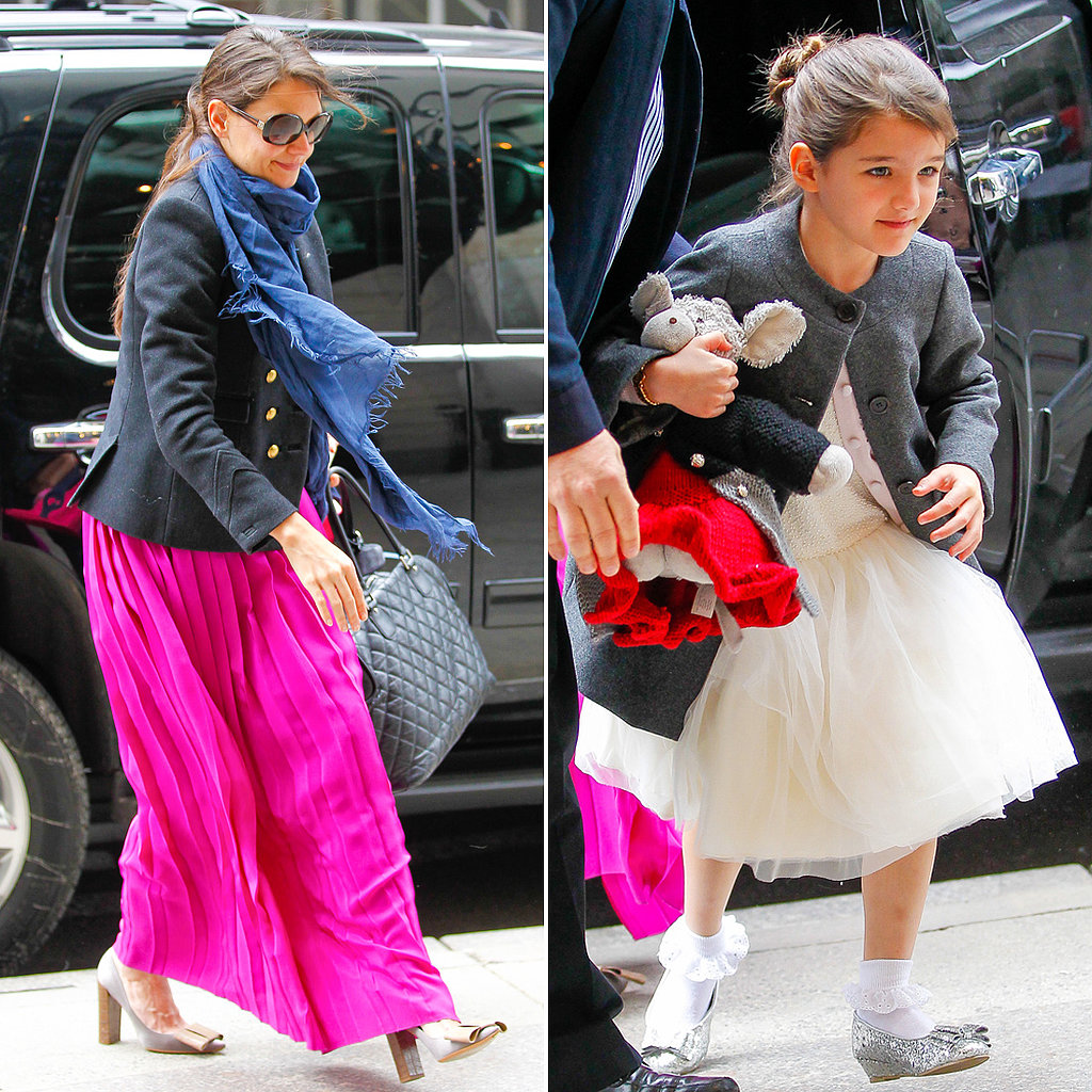 Katie and Suri Get in the Easter Spirit in the Big Apple