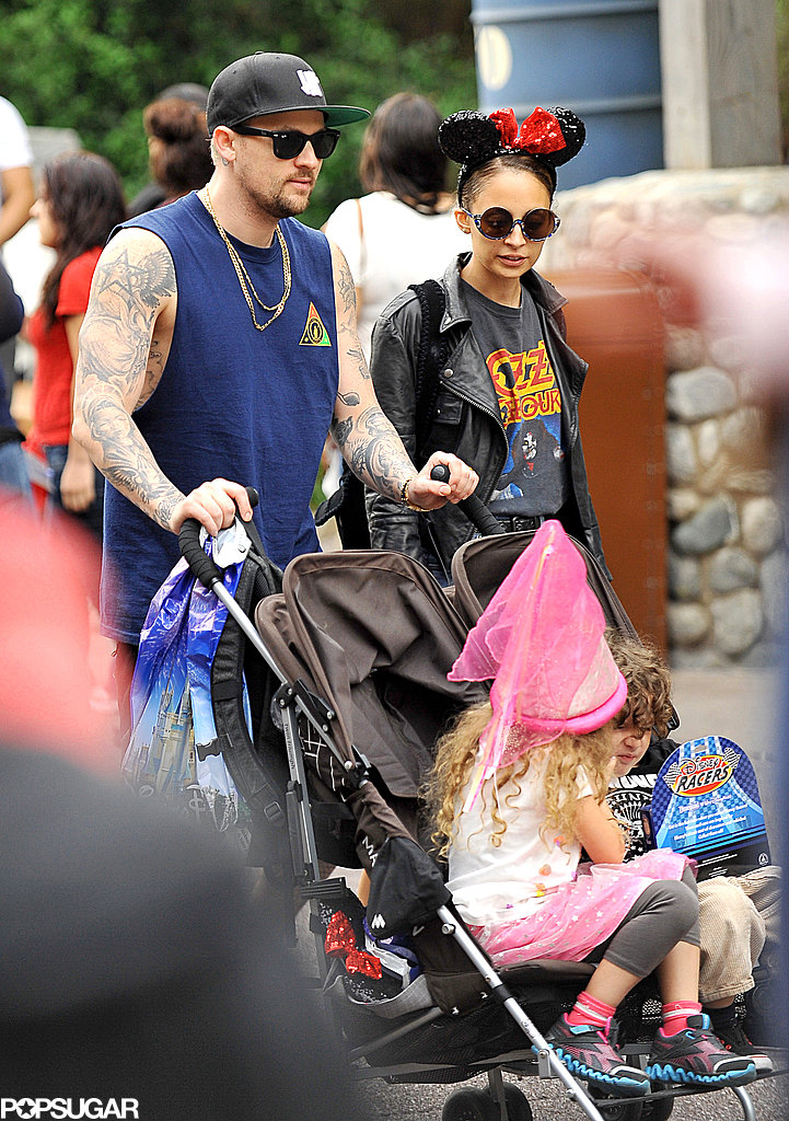 Nicole Richie and Joel Madden took their kids to Disneyland.