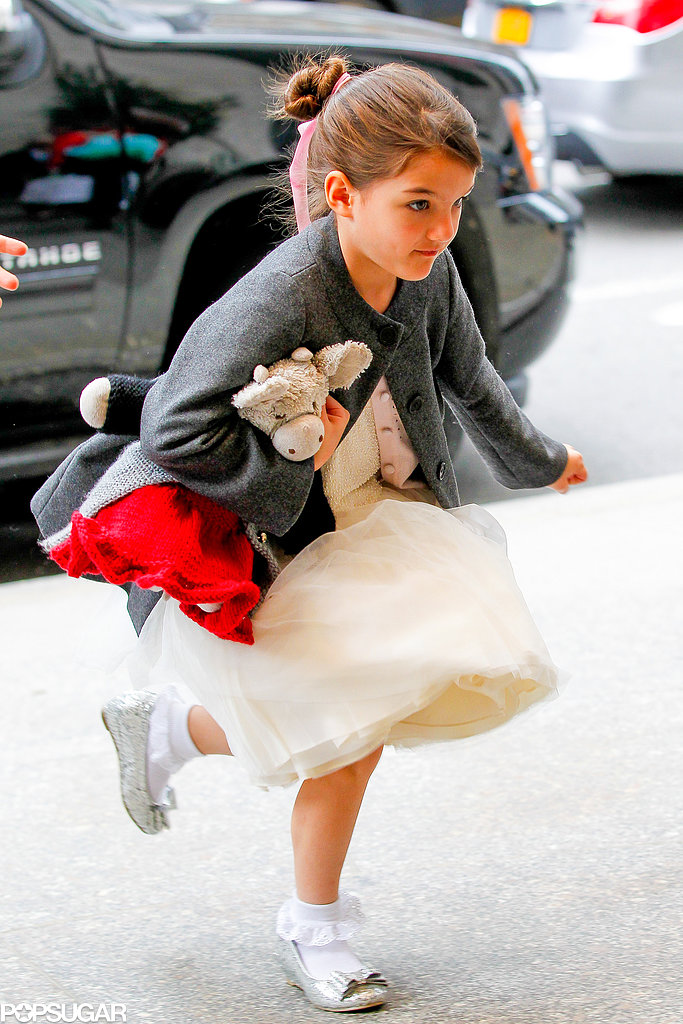 Suri Cruise wore a white tutu.