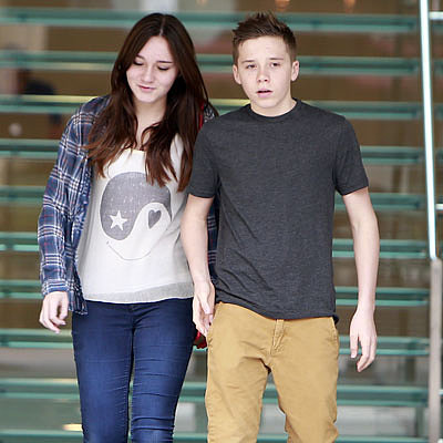 Brooklyn Beckham Frozen Yogurt Stop With Cousin in LA