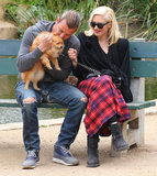 In April 2013, Gwen Stefani and Gavin Rossdale shared a sweet park date with their dog in LA.