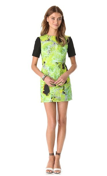 If flirty florals aren't your thing, Tibi's Athena dress ($450) has a more minimalist silhouette and a bold palette for a modern take on the Spring-favorite pattern.