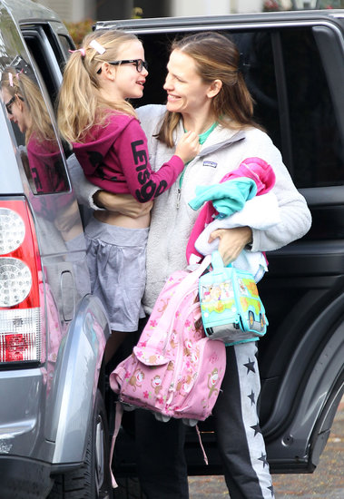 Jennifer Garner took her daughter Violet to school in LA on Monday.