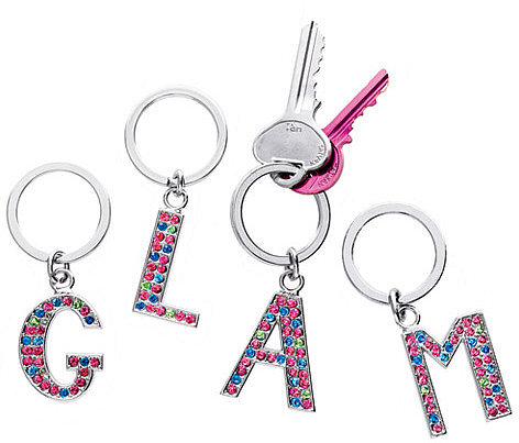 Bejeweled Initial Key Chain