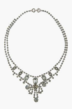 TOM BINNS Black Diamond Crystal Madame Dumont Necklace