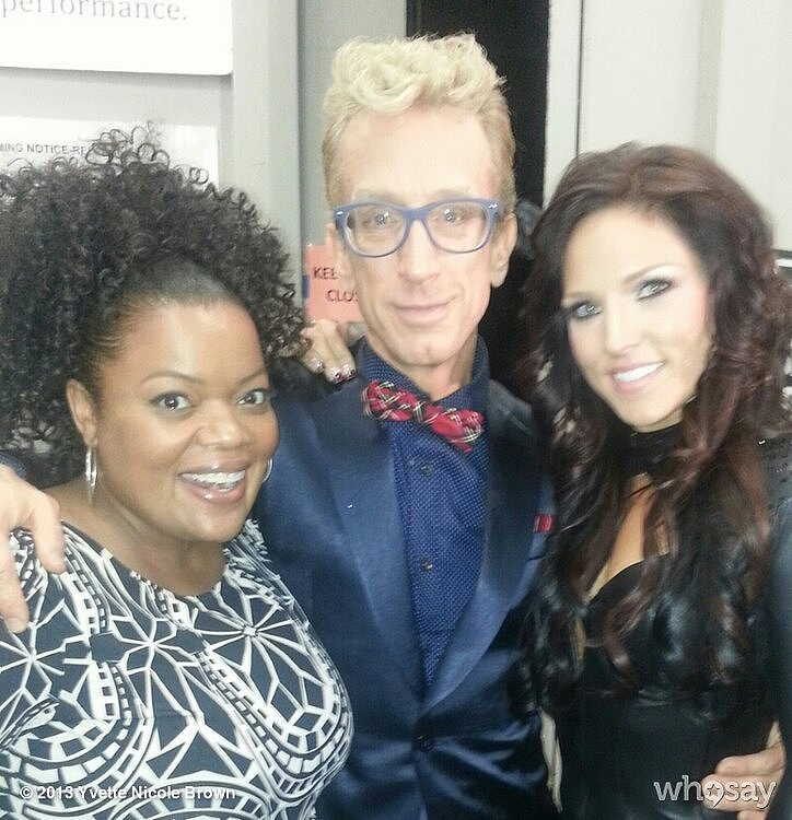 Community's Yvette Nicole Brown showed her support for Dancing With the Stars contestant Andy Dick. Source: Yvette Nicole Brown on WhoSay