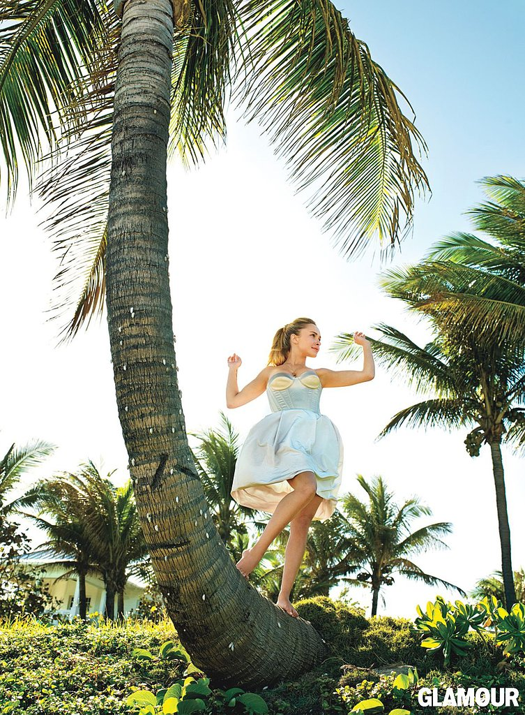 Hayden Panettiere posed for Glamour's May issue.