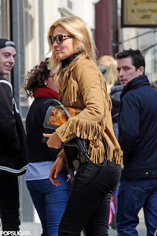 Kate Moss Wears Fringe For a London Lunch Date