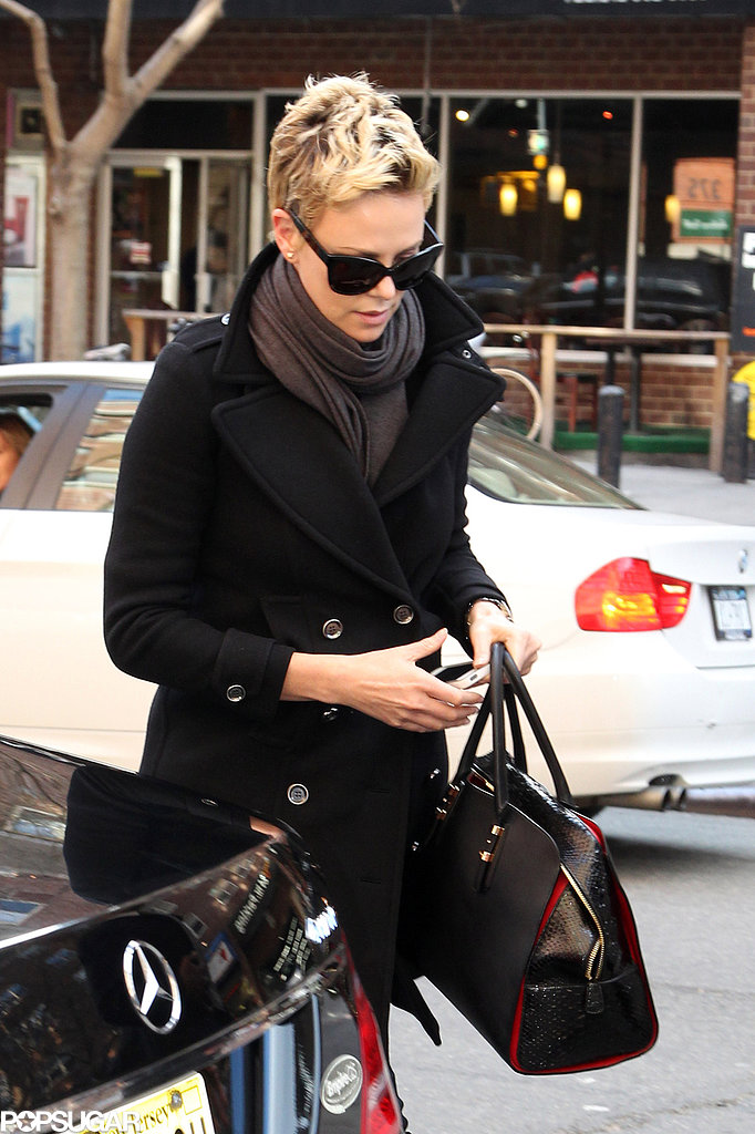 Charlize Theron was on the go in NYC.