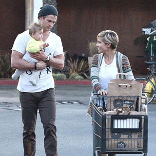 Chris Hemsworth at Whole Foods With Elsa and India