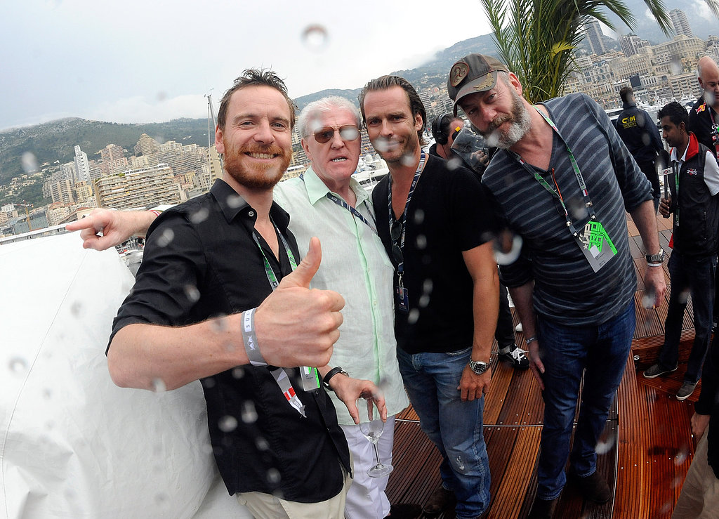 In May 2012, Michael Fassbender joined friends at the Monaco Formula One Grand Prix.