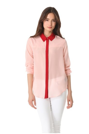There are blouses, and there are Spring blouses, like this PJK Patterson J. Kincaid Primrose Blouse ($69-$97, originally $138) with a fresh color update.