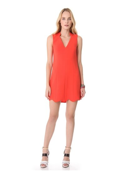 "Your solution to the ""what to wear to cocktails"" dilemma comes in the form of this Rachel Roy Scallop Dress ($149-$179, originally $298)."